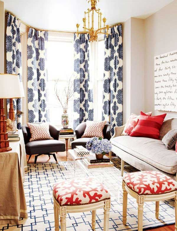 patterned drapes in living room 10 tips for mixing patterns like a master 20740