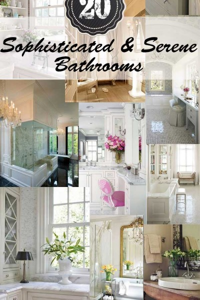 20 Sophisticated & Serene Bathrooms