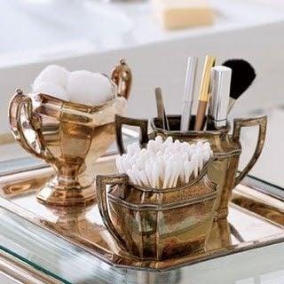 Tidbits&Twine Silver Bathroom Organizer