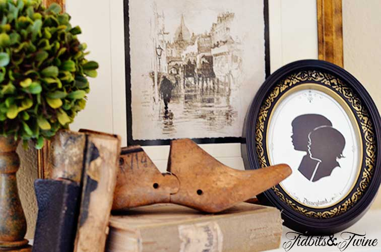 Decorating with Silhouettes - Tidbits&Twine tuesday