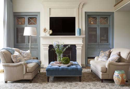 Houzz Traditional Tufted Ottoman
