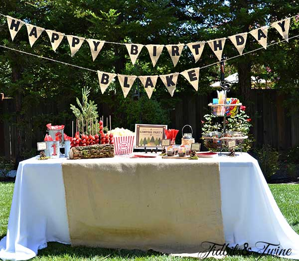 Tidbits & Twine Backyard Birthday Campout