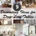 Tidbits&Twine - 9 Decorating Ideas for Drop-Leaf Tables