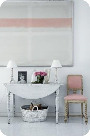 Tidbits&Twine Drop Leaf Table White