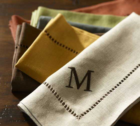 Pottery Barn Linen Hemstitch