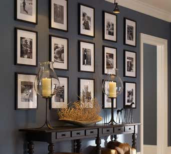 Pottery Barn Symmetrical Gallery Wall