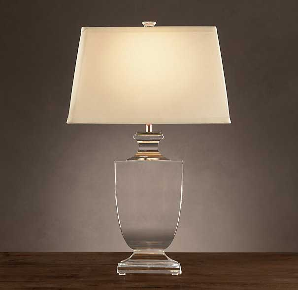 Restoration Hardware Palladian Crystal Lamp