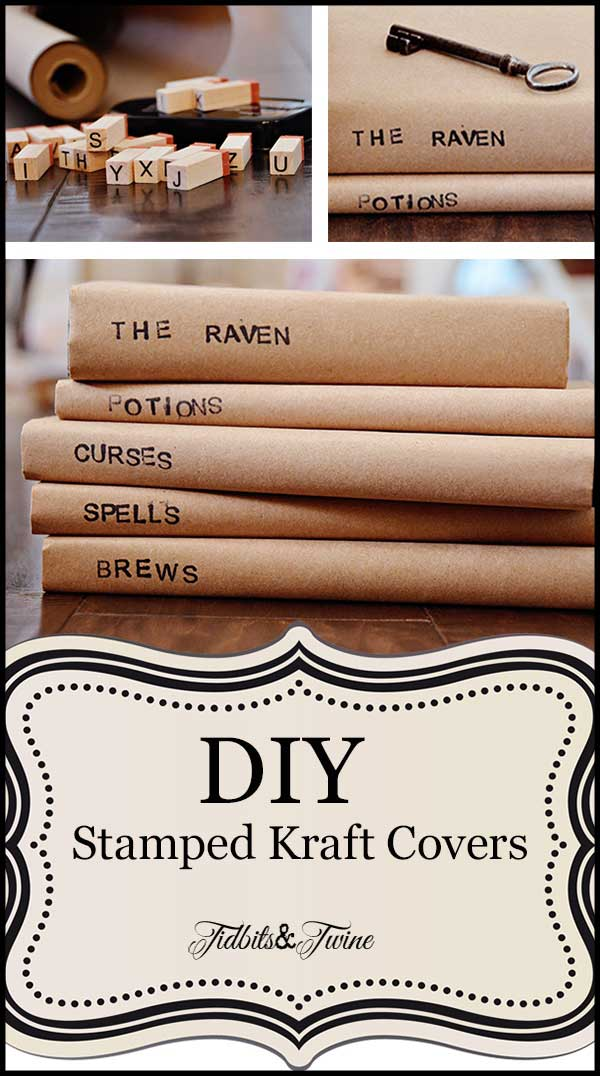 Diy Paper Book Cover : Covering a book with paper bag tidbits twine