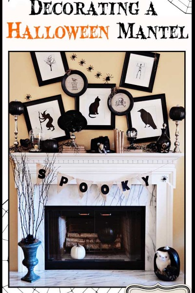 Decorating a Halloween Mantel