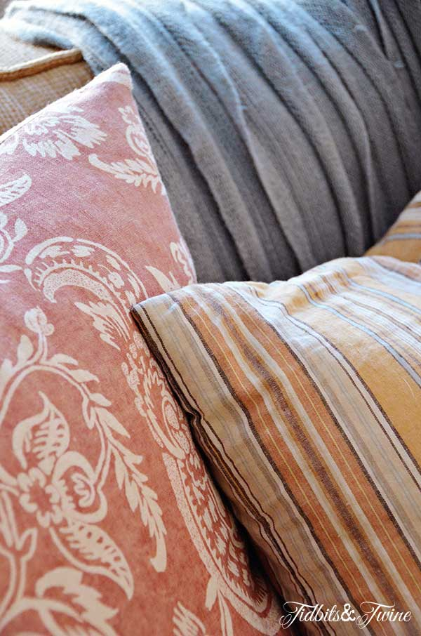 Tidbits&Twine Family Room Pillows