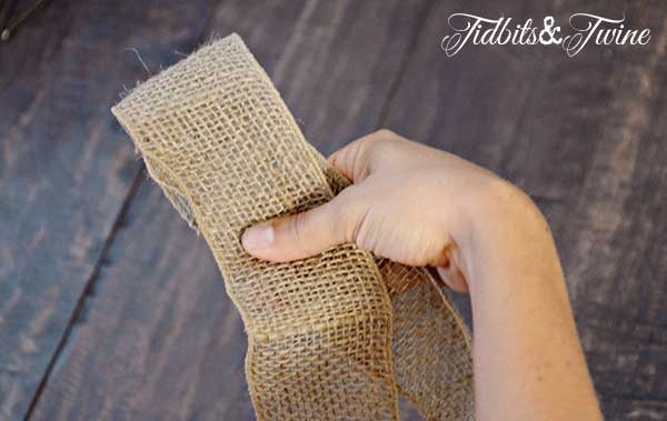 Tidbits&Twine How to Make a Bow Step 2