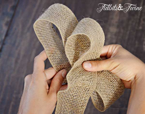 Tidbits&Twine How to Make a Bow Step 5
