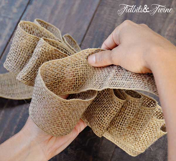 Tidbits&Twine How to Make a Bow Step 8