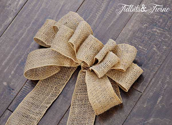 An a Burlap Bow Will Add Fall Decor Wherever You Put It
