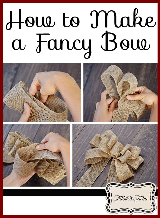 Tidbits&Twine How to Make a Fancy Bow
