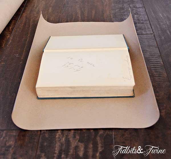 Tidbits&Twine Kraft Paper Book Covers Step 1
