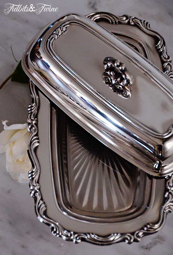 Tidbits&Twine Silver Butter Dish 5