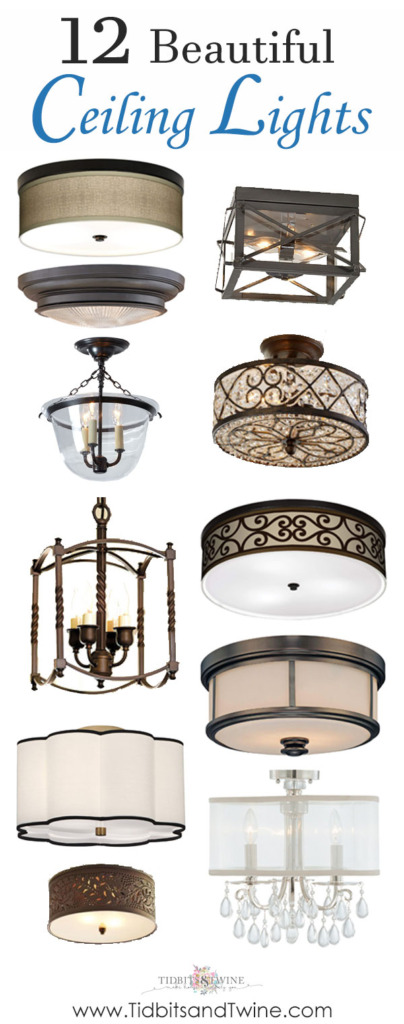 Photo collage of beautiful ceiling lights