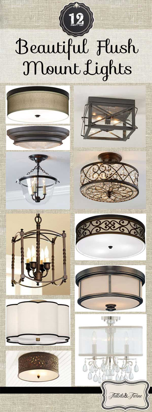 Ceiling Mounted Foyer Lights : Flush mount light fixtures tidbits twine
