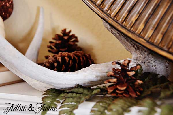 Tidbits&Twine Fall Mantel Antlers 2