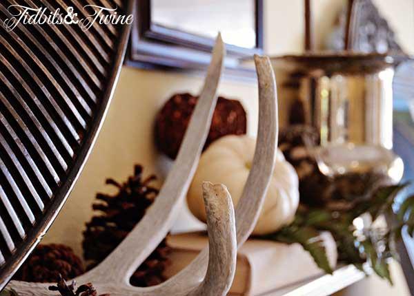 Tidbits&Twine Fall Mantel Antlers