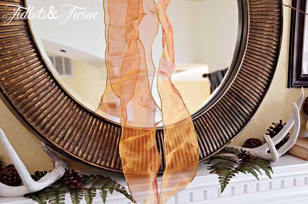 Tidbits&Twine Fall Mantel Ribbon Mirror