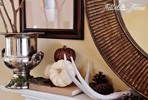Tidbits&Twine Fall Mantel Silver Champagne