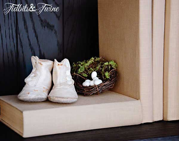 Tidbits&Twine French Cabinet Baby Shoes