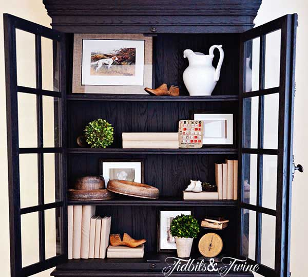 Tidbits&Twine French Cabinet Shelving