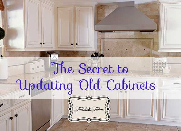 Updating 80's Builder Grade Kitchen Cabinets | TIDBITS&TWINE