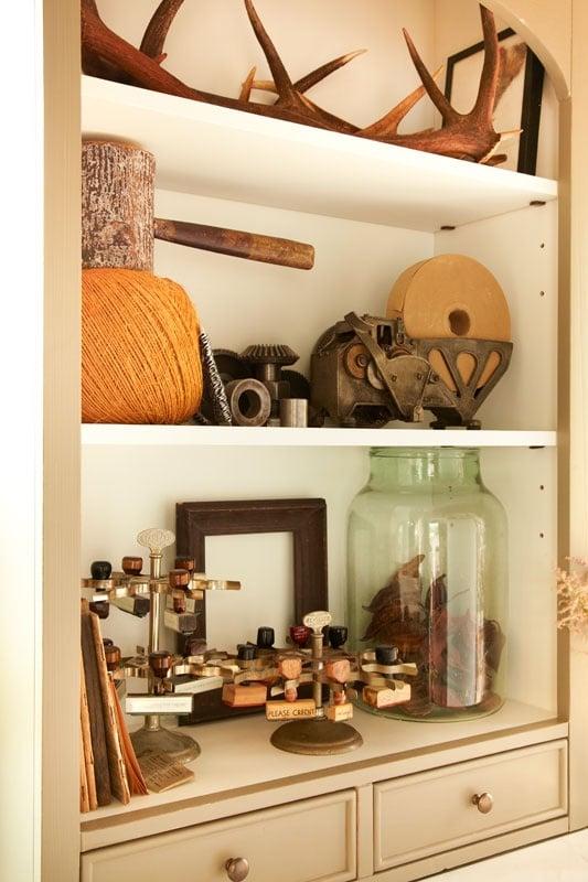Antler Bookcase Display
