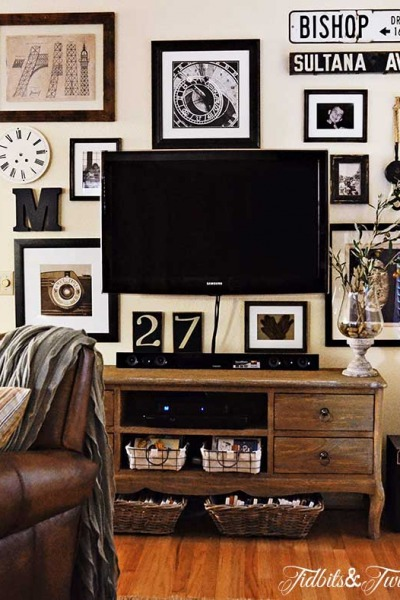 TV Gallery Wall Reveal {From Drab to Fab!}