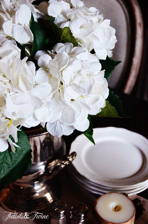 Tidbits&Twine-Hydrangeas-in-Silver-Champagne-Bucket