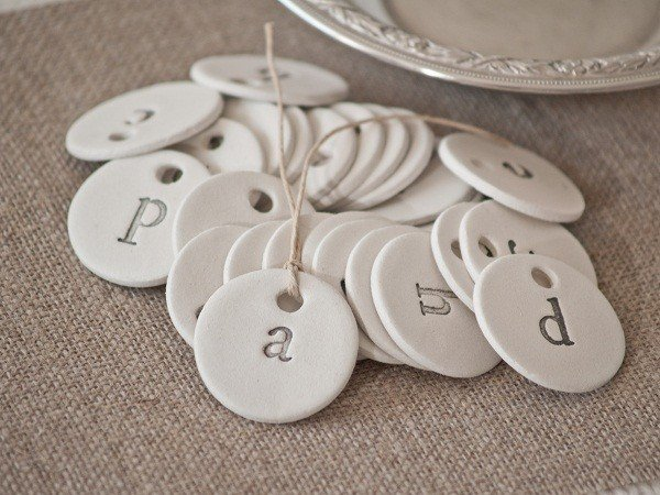 Antique Farmhouse Clay Tags