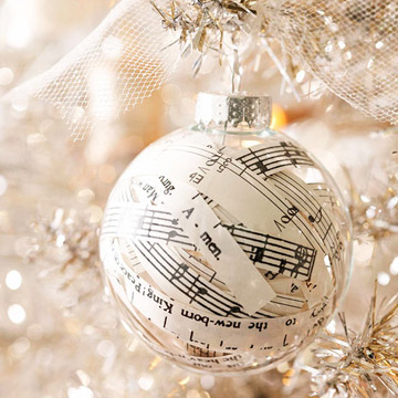 BHG Sheet Music Ornament