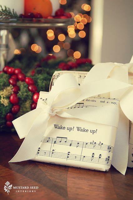 Miss Mustard Seed Sheet Music Gift Wrap