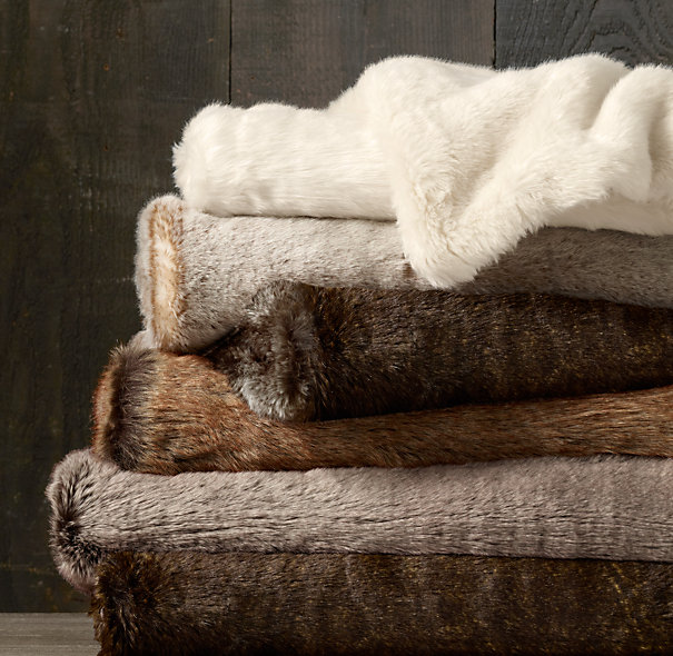 Restoration Hardware Luxe Faux Fur