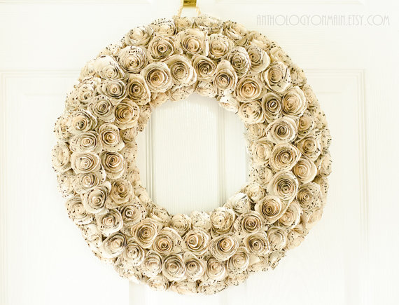 Sheet Music Rosette Wreath Anthology on Main