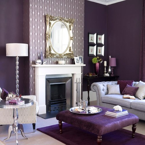 Tidbits&Twine Purple contemporary-living-room