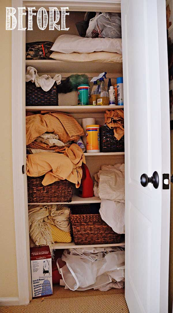 Linen Closet Makeover