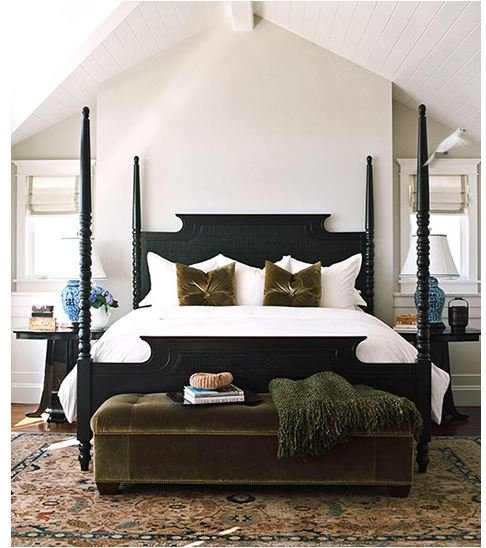 TIDBITS & TWINE - Black four poster bed