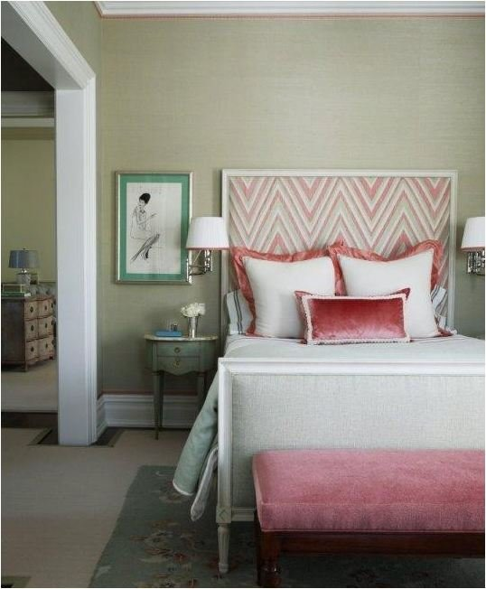 TIDBITS & TWINE - Chevron upholstered headboard