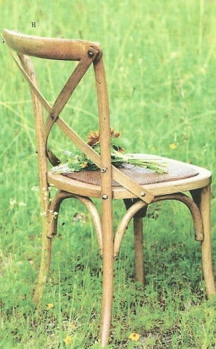TIDBITS & TWINE - Cross back chair