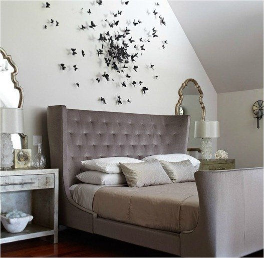 TIDBITS & TWNE - Upholstered headboard with butterflies