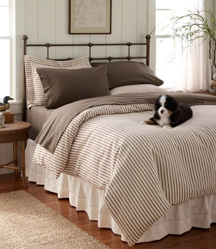 Ticking fabric bedding