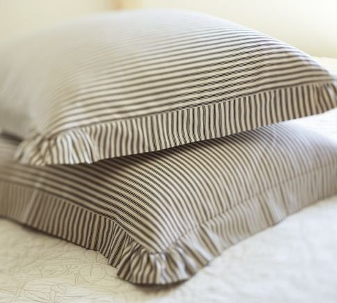 Ticking stripe pillow
