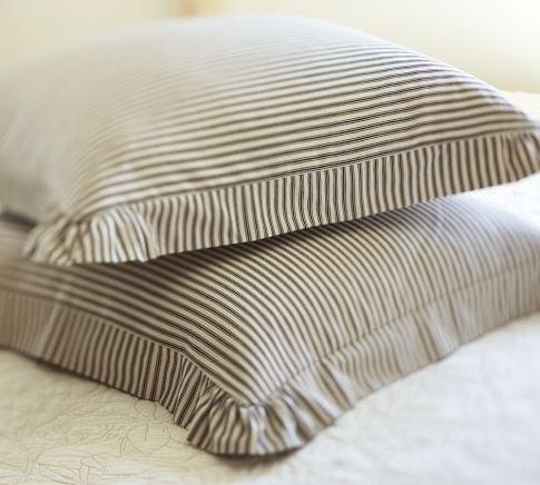 Ticking stripe pillow
