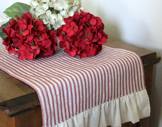 Ticking table runner