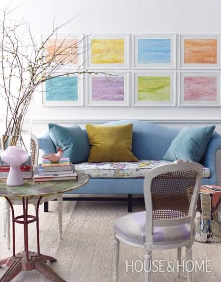 Tidbits & Twine Spring Color Room