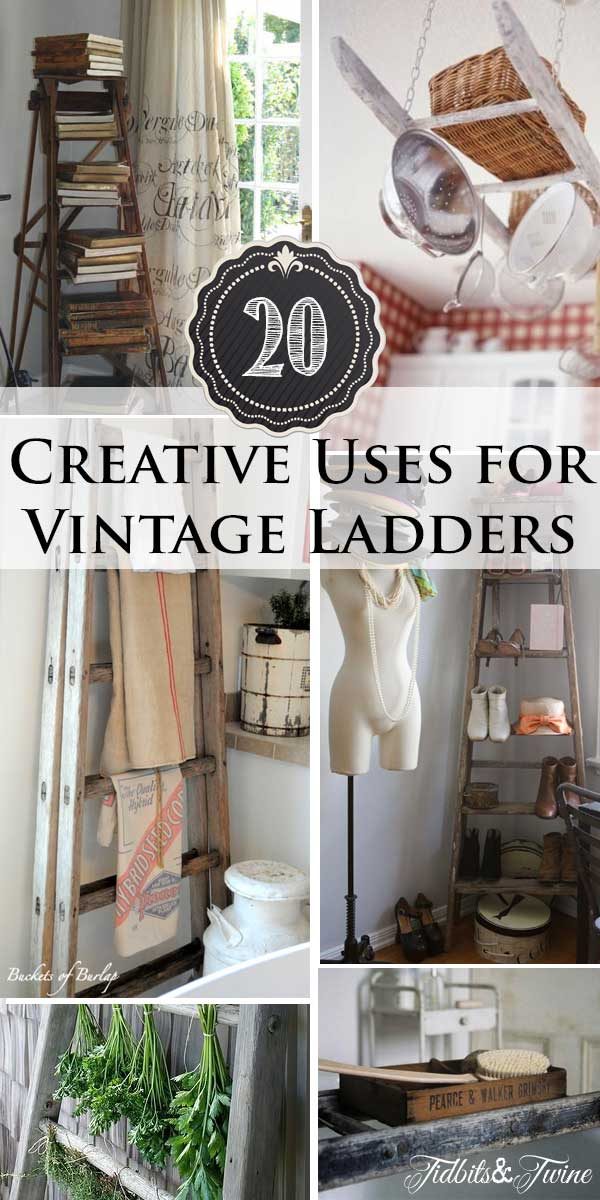 Tidbits&Twine---20-Ways-to-Decorate-with-Vintage-Ladders